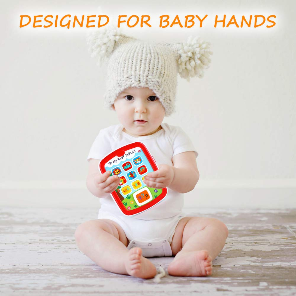 Toddler Learning Tablet for 1 Year Old, VATOS Baby Ipad for 6M -12M -18M+ with Music & Light, Travel Toy Tablet with Easy ABC Toy, Numbers & Color   My First Learning Tablet by VATOS (Image #6)