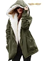 BYD da Donna Hoodie Cappotto con Collo di Pelliccia Maniche Lunghe Giaccha Felpa con Cappuccio Più Velluto Sweatshirt Capispalla Parka Inverno Autunno