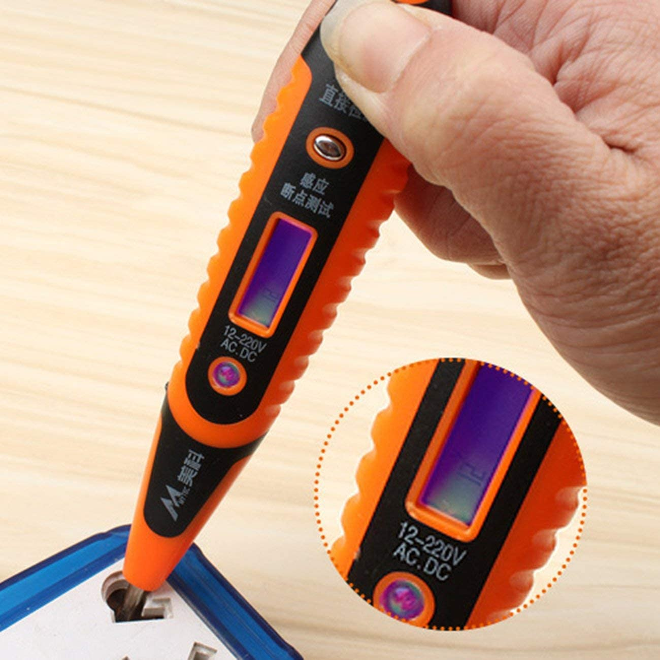 Elviray Digital Test Matita Multifunzione AC DC 12-250 V Tester Elettrico Display LCD Voltage Test Pen per Elettricista