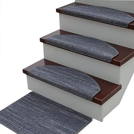ZENGAI Alfombra de la escalera Peldaños de escaleras | Conjunto de 5 | Antideslizante | Alfombrillas for escaleras interiores y exteriores for mascotas | Alfombras antideslizantes for alfombras de esc: Amazon.es: Hogar