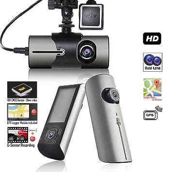 Indigi Blackbox 2,7 pulgadas LCD HD gran angular coche DVR grabadora de conducción + módulo GPS + Google Maps seguimiento: Amazon.es: Electrónica