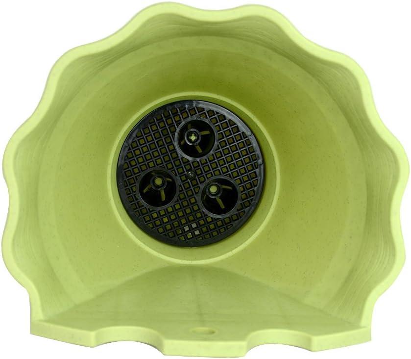 201x170x200mm-2.3 Liters r/ömischer Stil Provinz Seris Wave Plantagenbesitzer Wandhalterung Deluxe Platten beige