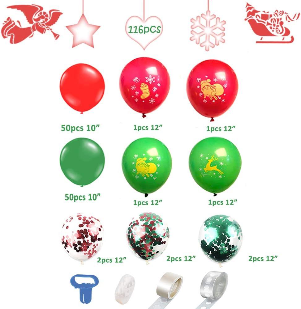 JeVenis Set von 11 Christmas Decorations Weihnachten Ballon Select Weihnachten Deko Weihnachten Banner Weihnachten Party Christmas Banner