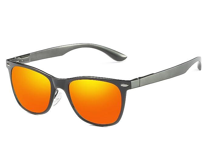 Bmeigo Hombre Gafas de sol Polarizadas Vintage Marco de metal Al-Mg Lentes Protección UV Conducción Deportivas Unisex: Amazon.es: Ropa y accesorios
