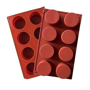 JasCherry Forma de Redondos Moldes de Silicone - Premium Antiadherente Moldes para Tartas, Repostería, Bizcocho, Gelatina, Jabón, Muffin, ...