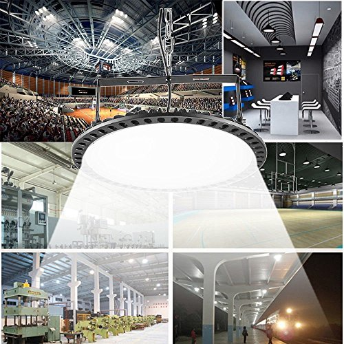 300W UFO High Bay LED Lighting,Getseason Super Bright Commercial Lights,Commercial Grade Area Ultra Thin and Efficient for Warehouse Workshop Hanging Lighting Fixtures (1) by Getseason (Image #8)