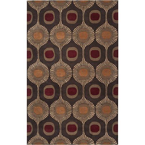 Chocolate 8rd - Surya Forum FM-7170 Transitional Hand Tufted 100% Wool Dark Chocolate 8' Round Medallion Area Rug
