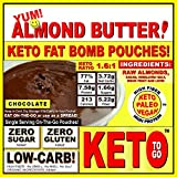 Cheap CHOCOLATE ALMOND BUTTER FAT BOMB 10-Pak LOW CARB KETOGENIC VEGAN PALEO – NO SUGARS ADDED – NO OILS ADDED – RAW WHOLE FOOD ONLY! 10 on-the-go Pouches ~ FAT BOMB Chocolate Almond Butter Packets