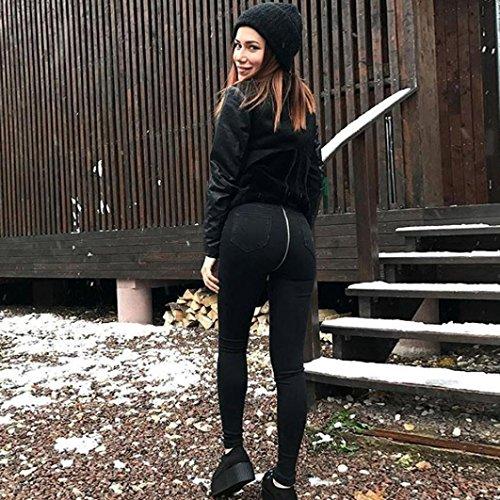 Denim Slim High Black Women's Pants Pencil Trousers Denim Skinny Yukong Jeans Waist CqAp7w