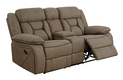 Amazon.com: Coaster 602265-CO Fabric Sofa, Tan Finish ...
