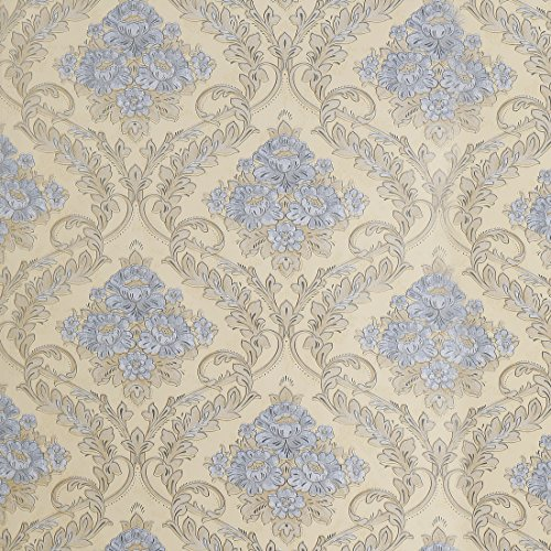 SICOHOME Wallpaper,11 Yards Beige Wallpaper Floral ()