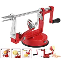 Apple Peeler Corer Stainless Steel Apple Corer Slicer Peeler Hand-Cranking Spiral Apple/Potato Peeler Slicer Corer