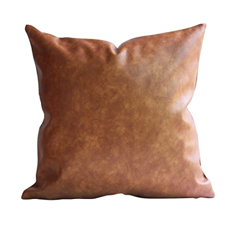 Amazon.com: Cojín de piel marroquí de 17.7 x 17.7 in – Cojín ...