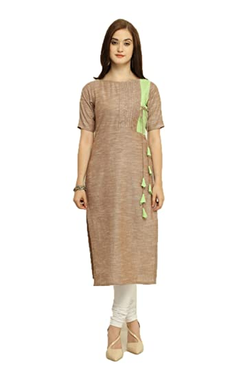 8c247d8bab Aayurda Gajri with multi color Print Women's Khadi Cotton Long ...