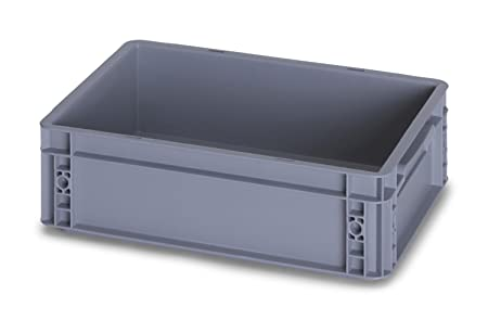 10 x 10 Litre Heavy Duty Plastic Stacking Euro Storage Containers