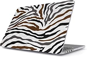 BURGA Hard Case Cover Compatible with MacBook Pro 15 Inch Case Release 2016/2017/2018, Model: A1990 / A1707 with Touch Bar Wild Zebra Fur Skin Print Exotic Safari Savage Desert Africa