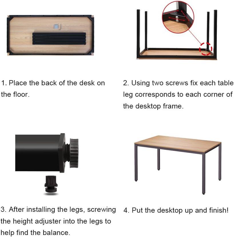 Need Scrivanie 120x60cm Ufficio Postazioni di Lavoro per Computer Scrivania PC Tavolo da Pranzo in Legno Scrivania Nero /& Bianco