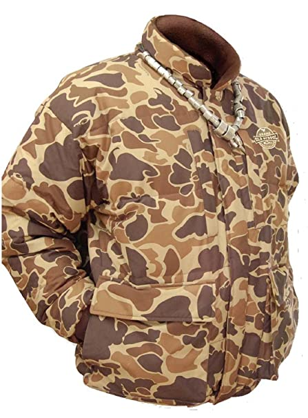 Amazon Drake Waterfowl Old School Camouflage LST Down Coat Classy Old School Camo Pattern