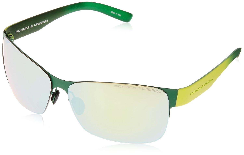 2ae05c4d14de Amazon.com  Porsche Design Women s P 8582 P8582 B Green Mirrored Green  Sport Sunglasses 64mm  Clothing