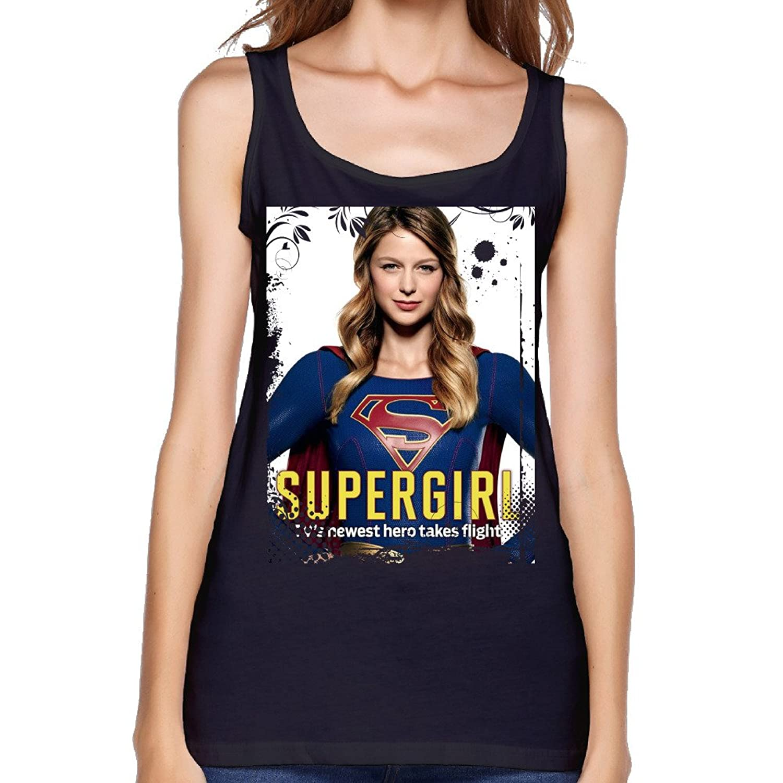 Women's Melissa Benoist Supergirl TV Show Poster Tank Top-
