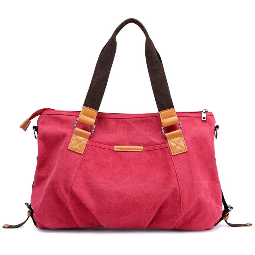 Ybriefbag Unisex Canvas Retro Fashion Leisure Single Shoulder Slung Shoulder Bag Large Capacity Travel Bag Vacation