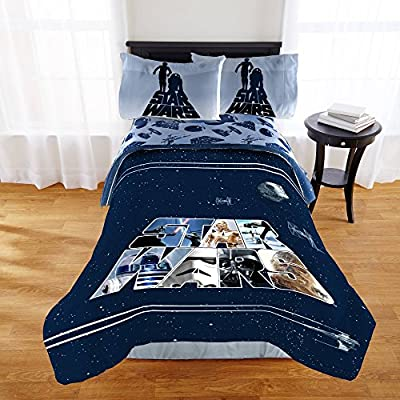 Star Wars Boys Classic Logo Full Comforter & Sheet Set (5 Piece Bed In A Bag) + HOMEMADE WAX MELT