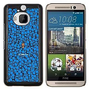 - CHARACTER DRAWING BLUE CUTE DIFFERENT BE - Caja del tel¨¦fono delgado Guardia Armor- For HTC One M9+ / M9 PLUS Devil Case