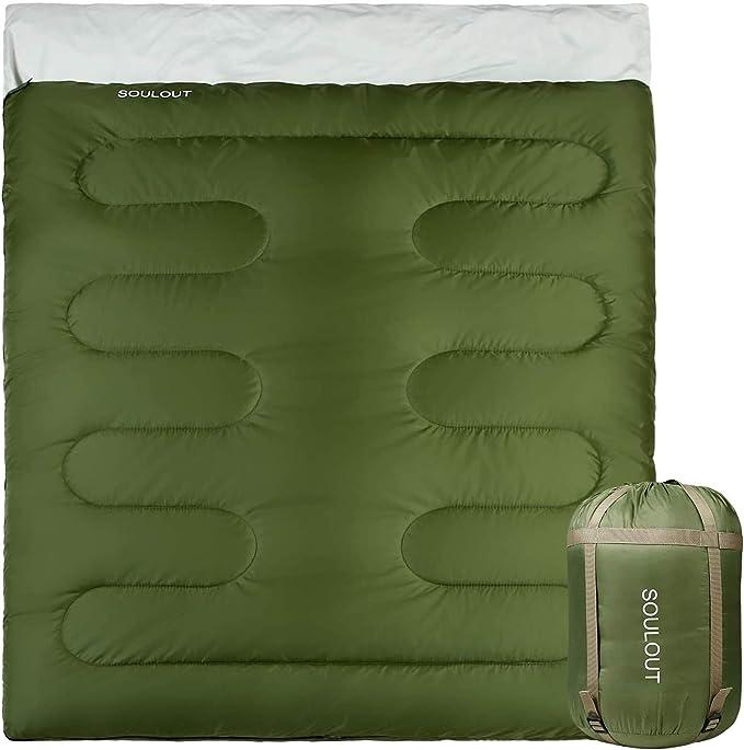 Sleeping Bag 3-4 Seasons 300 GSM XXL 235 × 100 cm Professional Double Layer