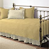 Trellis Maize 5-piece Solid Yellow Cotton Daybed Set