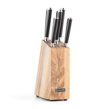 Klarstein Katana 6 Set de cuchillos con base de madera ...