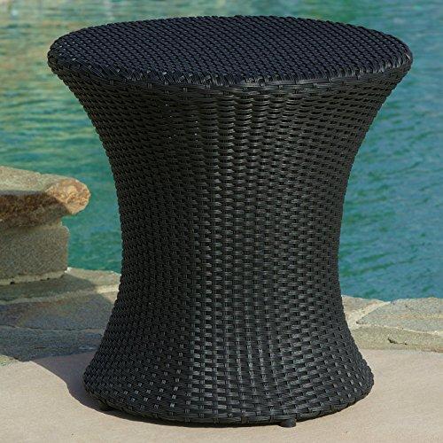 Eco Durable Outdoor Patio Wicker Drink End - Table Patio Round Eco