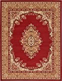 A2Z Rug Traditional Burgundy 9′ x 12′ Mashad Collection Area rug Perfect for any floor & Carpet