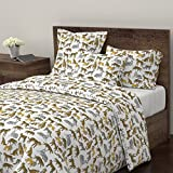 Roostery Tiger Duvet Cover Cheetah Lion Safari Africa Zoo by Andrea Lauren 100% Cotton Twin Duvet Cover