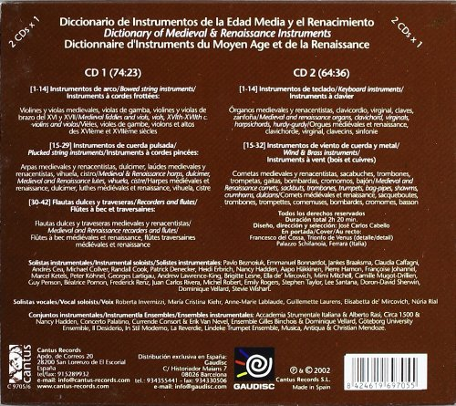 various artists, None, Dictionary of Medieval & Renaissance Instruments - Dictionary of Medieval and Renaissance Instruments - Amazon.com Music