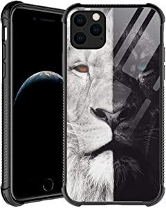 iPhone 11 Case,Black and White Lion iPhone 11 Cases for Men Boys,Shockproof Anti-Scratch Soft TPU Pattern Design Case for Apple iPhone 11 Black and White Lion