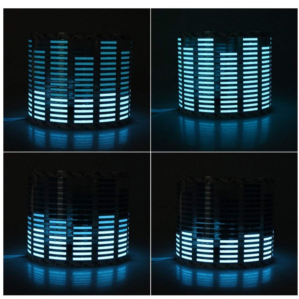 Signstek Sound Music Beat Activated Car Stickers Equalizer Glow Blue LED Light Audio Voice Rhythm Lamp AZX021371