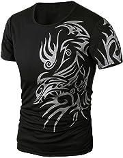LOOKATOOL Men Summer Fashion Printing Men's Short-sleeved T-shirt