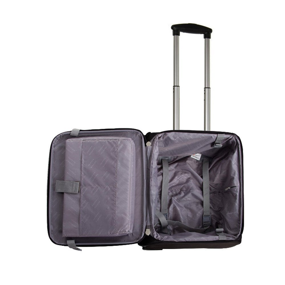 Color : Black Mei Xu Luggage Sets Trolley case-16 inch Cross Section Waterproof Luggage Business Boarding Suitcase Travel Trolley Box Attendant 4 Colors Optional Travel Essential