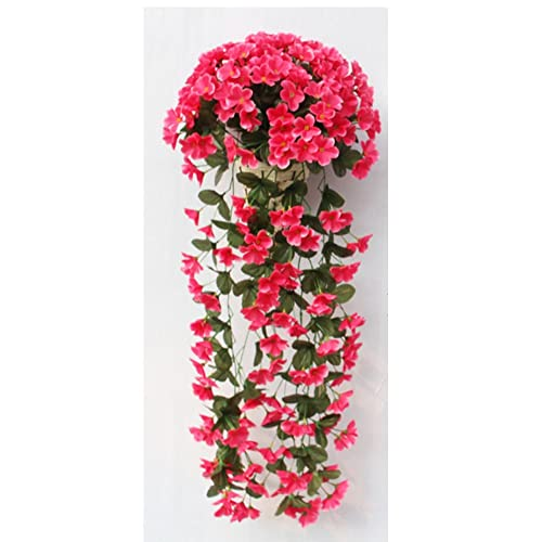 Artificial flowers bulk amazon 1 bunch artificial violet hanging with baskets garland vine flower trailing bracket plant home garden wall mightylinksfo