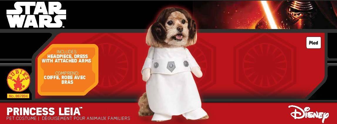 Princesse Leia Rubies Officielle pour Animal Domestique Chien Costume Star Wars/ /Petit