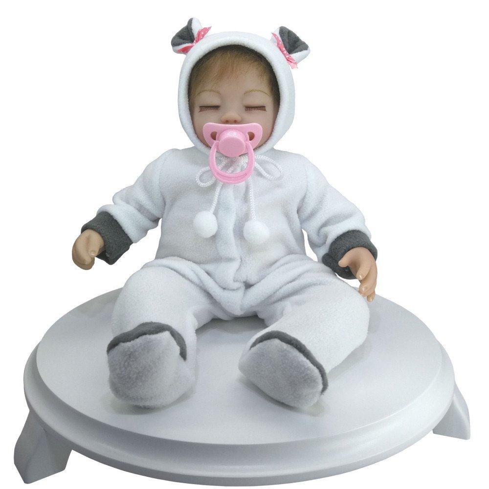 YIHANGG Simulación Bebé Muñeca Renacimiento De Silicona Realista Muñeco Recién Nacido Juguetes De Los Niños Regalo Favorito De La Muchacha De 18 Pulgadas
