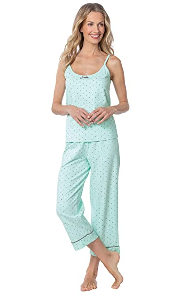 PajamaGram Summer Pajamas for Women - Capri Women Pajamas, Mint, XL, 16 best women's summer pajamas