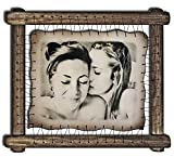 Gay Gifts Lesbian Couple Gift Gay Art Print Same Sex Wedding Lesbian Girlfriend Gift Gay Boyfriend Present Mrs and Mrs Mr and Mr Gay Bride - RARE Hand Drawn Pyrography Technique
