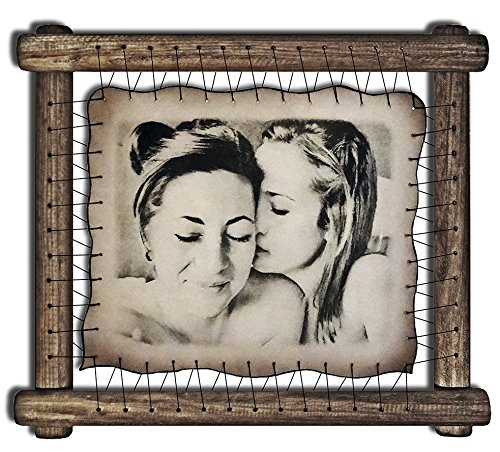 Gay Gifts Lesbian Couple Gift Gay Art Print Same Sex Wedding Lesbian Girlfriend Gift Gay Boyfriend Present Mrs and Mrs Mr and Mr Gay Bride - RARE Hand Drawn Pyrography Technique by Leatherportrait