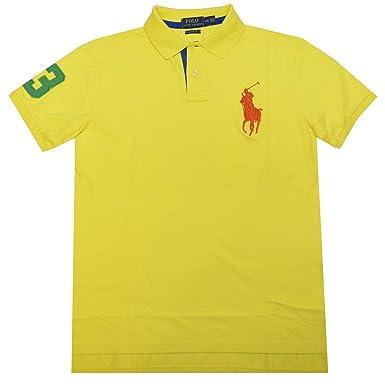 Polo Ralph Lauren Men Custom Fit Big Pony Logo Mesh Polo Shirt (2xlt)