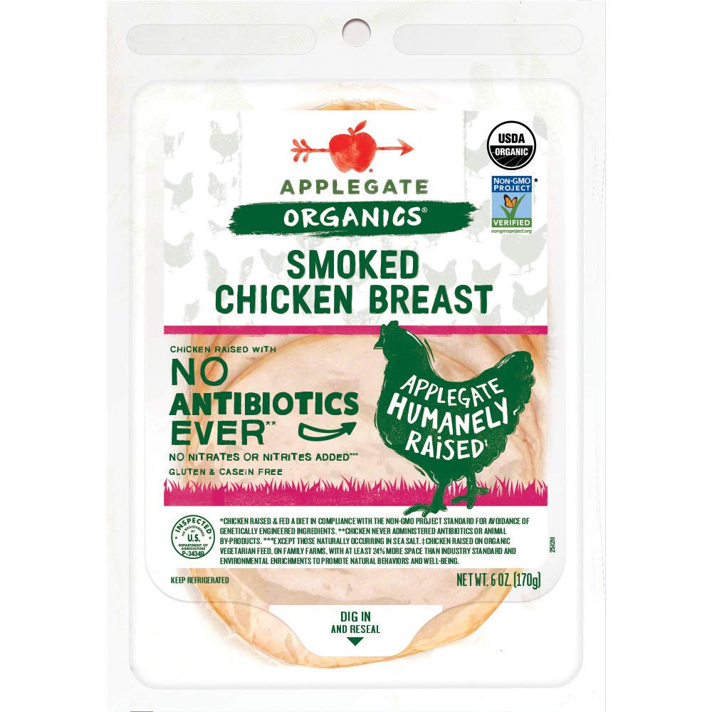 Applegate, Organic Smoked Chicken Breast, 6oz