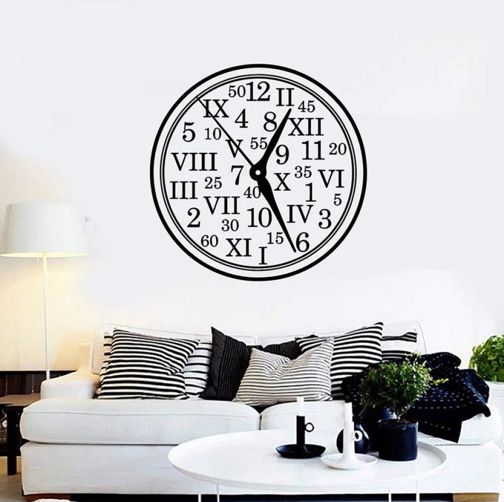 Reloj Tatuajes de pared Números romanos Decoración del hogar para ...
