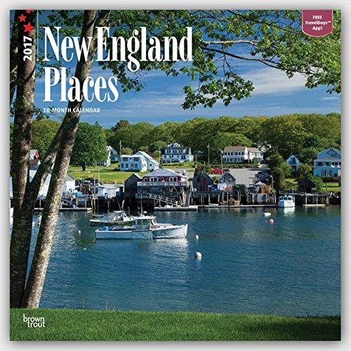 New England Places - Neuengland 2017-18-Monatskalender mit freier TravelDays-App: Original BrownTrout-Kalender [Mehrsprachig] [Kalender] (Wall-Kalender)
