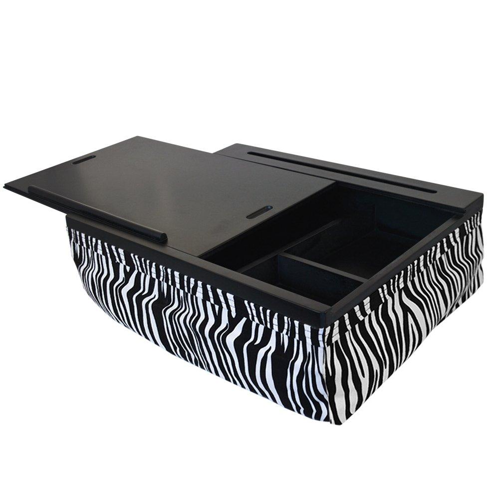 iCozy Portable Cushion Lap Desk With Storage - Zebra by iCozy (Image #3)