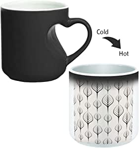 Magic Mug with inner heart handle For Coffee or tea By decalac, mugHM-BLK-02304
